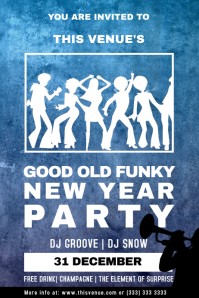 New Year Funky Party Flyer