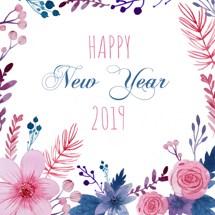 New year Greeting Card 2019