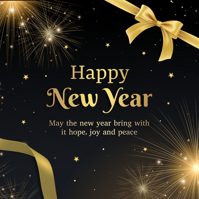 New year greeting card Pos Instagram template