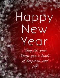 NEW YEAR GREETING CARD Flyer (US Letter) template
