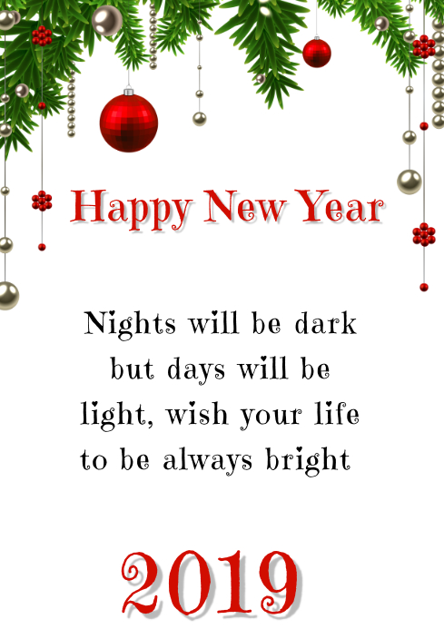 Happy New Year Greeting Card 46