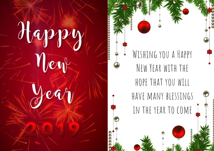 Happy New Year Greeting Card 17