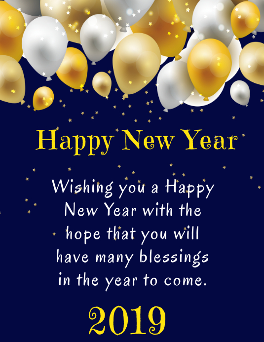 Happy New Year Greeting Card 29