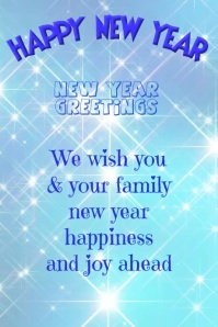 NEW YEAR GREETING CARD Poster template