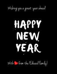 new year greeting cards Flyer (US Letter) template