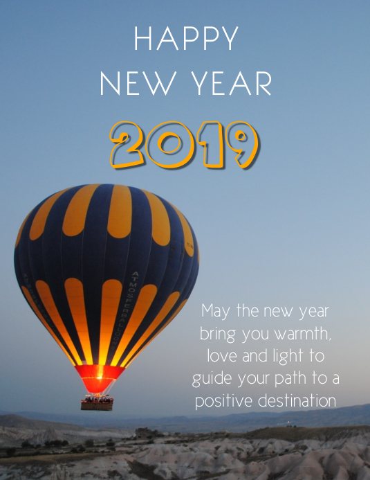 new year greeting cards customize template
