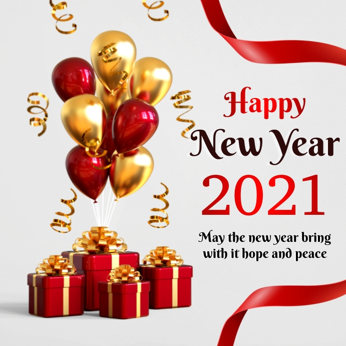 New year greeting Pos Instagram template
