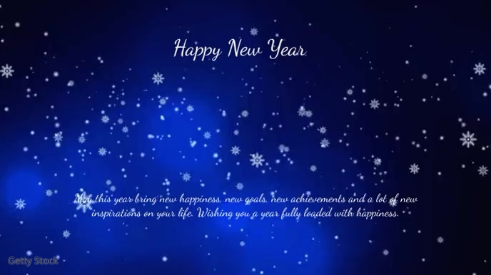 New Year Greeting Video Message 2020 cover ad Digital na Display (16:9) template