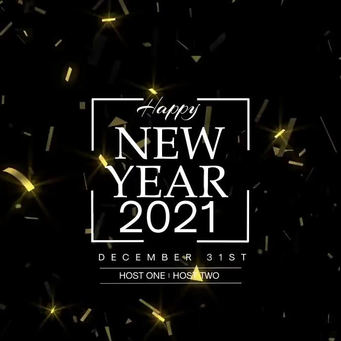 New Year Greetings Confetti