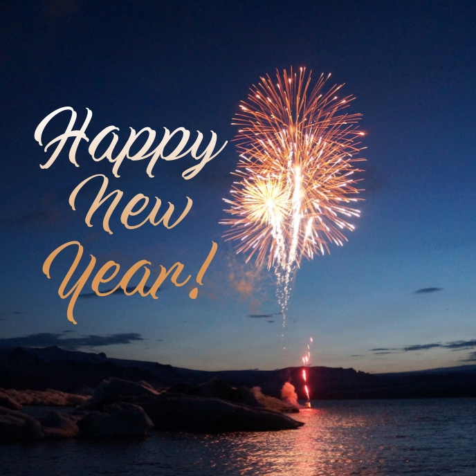 New year greetings Sampul Album template