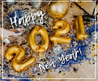 New year greetings Rettangolo grande template