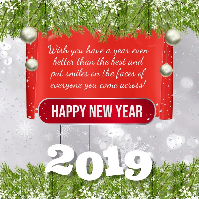 New Year Greetings Instagram Video Template Postermywall
