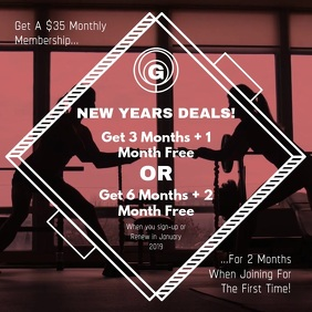 New Year Gym Deals Square Video