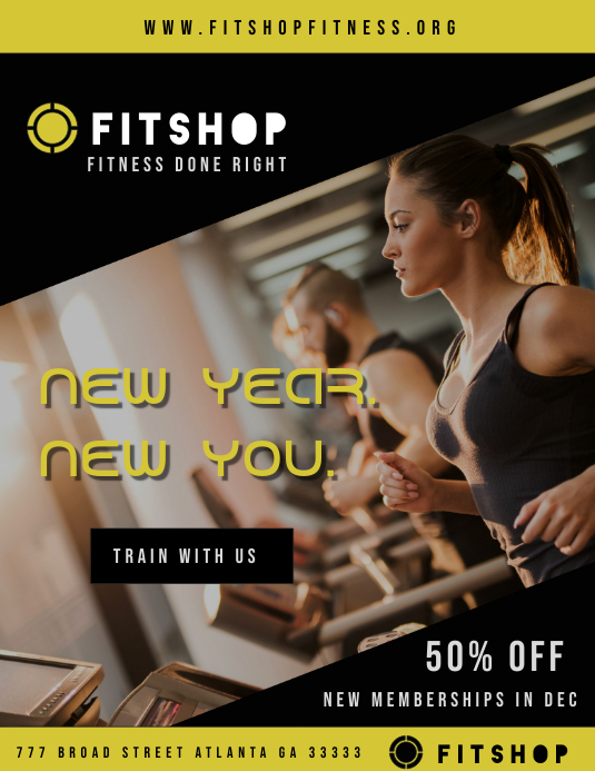 New Year Gym Flyer