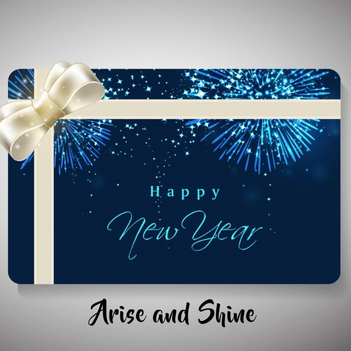 New Year Instagram Card