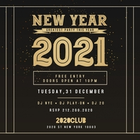 new year instagram flyer template