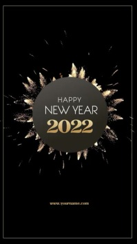New Year Invitation flyer Instagram 故事 template