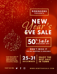 New Year Lights Retail Flyer