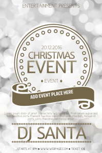 New Year or Christmas Event Flyer Template
