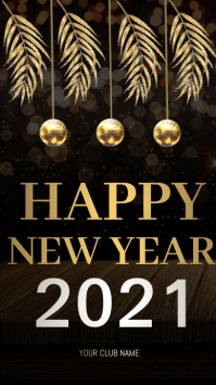 New year party, new year's eve Historia de Instagram template