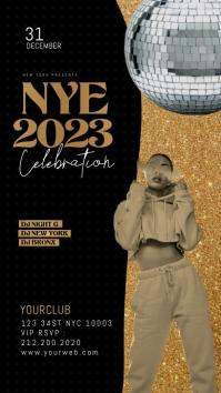 New Year Party, NYE Celebration Flyer