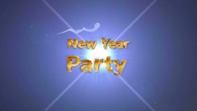 New year party 2020 poster template