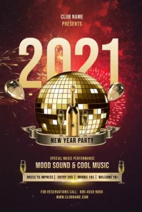 New Year Party Celebration Plakkaat template