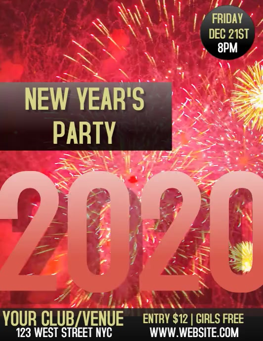 NEW YEAR Party Club Flyer Template