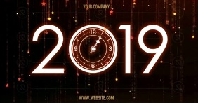 NEW YEAR PARTY Image partagée Facebook template