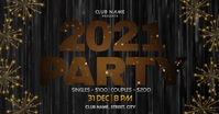 New year party Facebook Event Cover template
