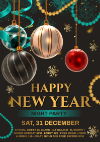 New year party A4 template