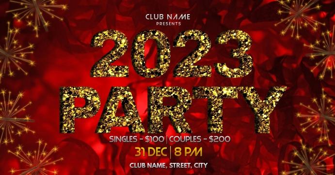 New year party Обложка мероприятия для Facebook template
