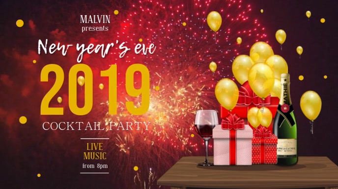 New Year Party Digital Display Video