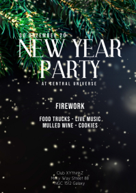 New Year Party Event Celebration Invitation