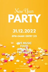 New Year Party Event Flyer Poster Celebration