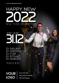 New Year Party Event Flyer Poster invitation