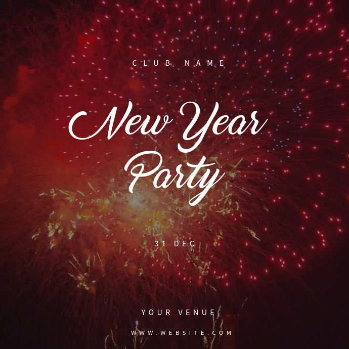 New Year Party Event Poster