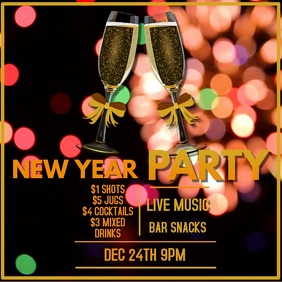 New Year Party Event Video Template