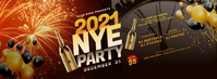 New Year Party Facebook Cover Photo template