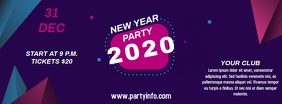 New Year Party facebook cover template