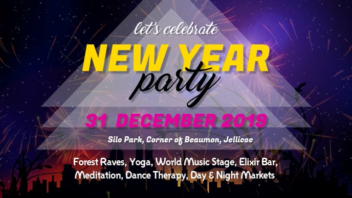 New Year Party Facebook Cover Video Template