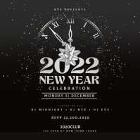 New Year Party Flyer, Happy New Year Instagram-opslag template