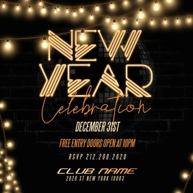 New Year Party Flyer, Happy New Year