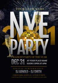 New Year Party Flyer A4 template