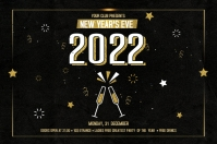 New Year Party Flyer Banner 4' × 6' template