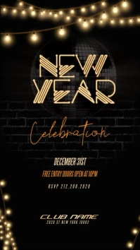 New Year Party Flyer instagram