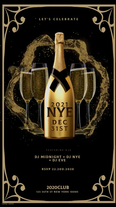 New Year Party Flyer instagram story