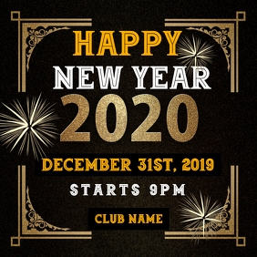 New year party instagram post ad