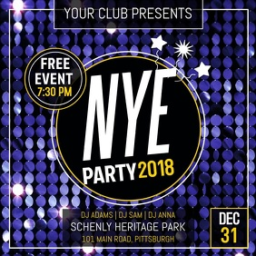 New Year Party Instagram Video template