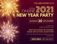 New Year Party Invitation Banner Flyer (US Letter) template